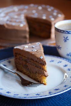 Banankake med Nutella- og kaffekrem   Det søte liv