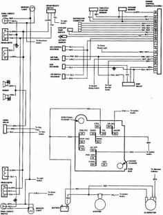 headlight and tail light wiring schematic diagram typical  85 chevy truck wiring diagram chevrolet truck v8 1981 1987 electrical wiring diagram