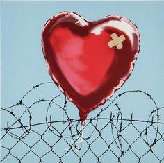 Banksy gives us a visual of how love hurts.