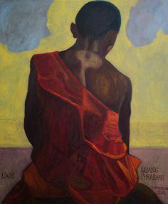 Laos-LouangPhrabang  Original oil painting by PaintingThomasMrozow