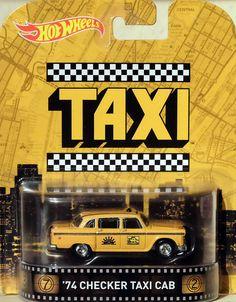 1974 Checker Taxi Cab 1:64 Hot Wheels CFR35 Retro Entertainment