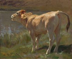 Mooing Cow   Rudolf Koller (1828-1905)    Things of beauty I like to see : Photo
