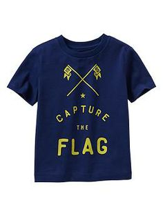 blue capture the flag tee