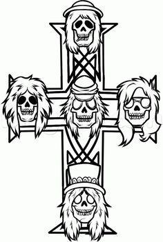 How To Draw Guns N Roses Guns N Roses Step 7 Gun And Roses