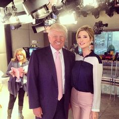 Ivanka Trump wearing her own line while visiting 'The Today Show' with her father, Donald Trump. Available at London Jewelers!