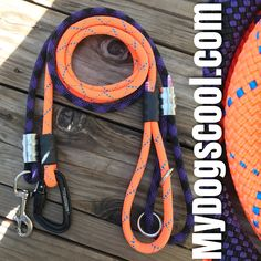Climbing Rope Dog Leashes for medium to extra large dogs. Made in USA. https://mydogscool.com