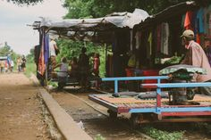 The Bamboo Train // Battambang Cambodia Battambang Cambodia, Bangkok, Countryside, Bamboo, Train, Building, Buildings, Strollers, Construction