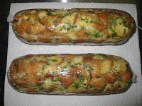 Blog Pepato.eu: Žemlový nebo Karlovarský knedlík? Bread Dumplings, Baked Potato, Zucchini, Sausage, Food And Drink, Potatoes, Meat, Baking, Vegetables