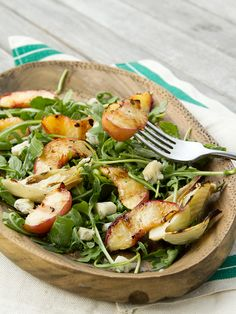 Arugula Salad With Grilled Peaches