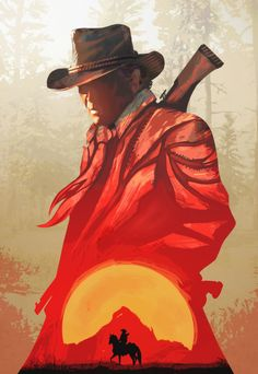 Red Sun Set /red Dead - Poster Iphone Skin by Azlaar - iPhone 8 Red Dead Redemption 1, Westerns, Canvas Poster, Poster Wall, Painting Wallpaper, Western Art, Game Art, Sketches, Art Prints