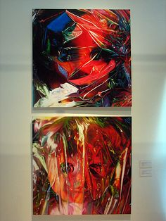 these have been my favorites...  gift wrapped dolls by James Rosenquist  oil on canvas