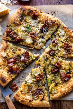 Shredded Brussels Sprout and Bacon Pizza | halfbakedharvest.com Roasted Sprouts, Shredded Brussel Sprouts, Sprouts With Bacon, Brussels Sprouts, Pizza Recipes, Cooking Recipes, Healthy Recipes, Vegetarian Recipes, Dinner Recipes