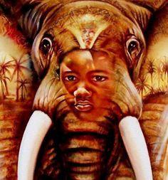 World-African Arts. African Art Paintings, Black Love, Black History, Art Gallery, Lion Sculpture, Culture, Inspiration, American, Art