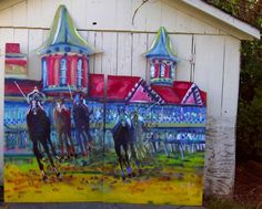 Enrique Gonzalez (Lexington, Ky). The best Derby Painting Ever!!! I just need a house big enough to fit it in.