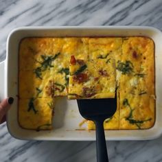 Use this simple breakfast casserole recipe to upgrade your weekly meal prep. In just 30 minutes you can have a healthy breakfast prepared for the entire week.