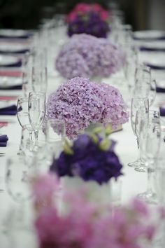 gorgeous purple flowers for tables