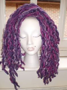Curly wool dreads tutorial
