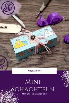 Super einfache und schnelle Verpackung mit Anleitung Paper Trimmer, 3d Paper, Super, Mini, Blog, Poster, Crafts, Book Folding, Snails
