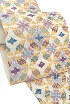 【洛陽織物】 特選西陣唐織袋帯 「鳥襷文」 ≪気品のお色が魅力。 100年の歴史ある老舗特選。≫|京都きもの市場