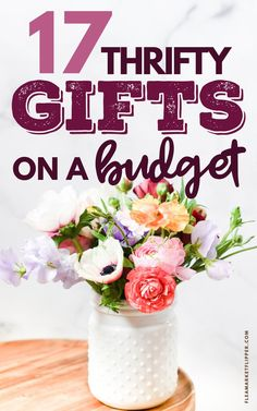 17 Thrifty Gifts On A Budget | Ways To Save Money - Are you looking for the perfect gift idea, but don't have a lot of cash? Click to learn how you can save money by turning cheap thrift store, yard sale and flea market finds into the best gifts | Flea Market Flipping | Ways To Save Money | Flea Market Tips | Thrift Store Finds | Frugal Christmas #thrifting #repurposing #frugal #thrifty #budgetfriendly Frugal Christmas, All Things Christmas, Christmas Gifts, Easy Diy Gifts, Cheap Gifts, Saving Tips, Saving Money, Frugal Living Tips, Inexpensive Gift