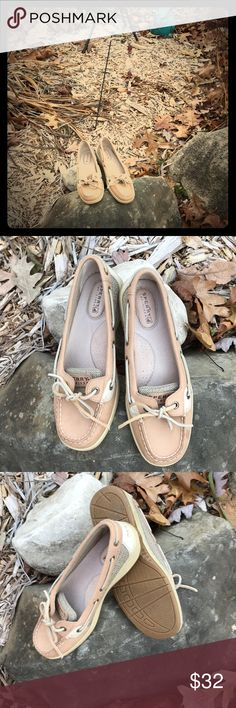 Cute Sperry Leather tan and cream colored only worn a few times, great condition! Sperry Top-Sider Shoes Flats & Loafers