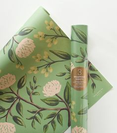 Omg... @Scarlett Cates! I. Want. This!  Emerald Peonies Wrapping Sheets