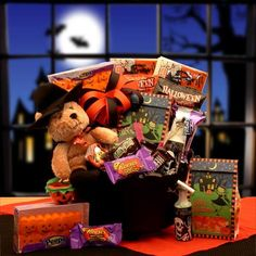 The Perfect Gift Basket - Witches Brew Halloween Cauldron, $39.99 (http://www.the-perfect-giftbasket.com/witches-brew-halloween-cauldron/)