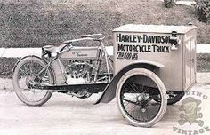 "Harley-Davidson was eager to increase it's foothold in the commercial vehicle market, so in 1913 they announced that they would be producing a new model called the ""Motorcycle Truck"