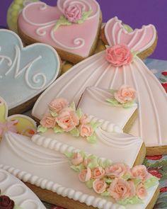 187 best Wedding Cookies images on Pinterest | Cookies, Decorated ...