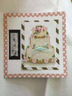 Wedding card. Homemade card. Cut the cake! By Eggmade.