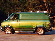 Custom 70's Chevy Van survivor