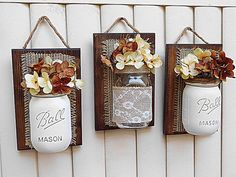 Mason Jar Wall Decor jute Decor het Decor van de door TeddysRoom