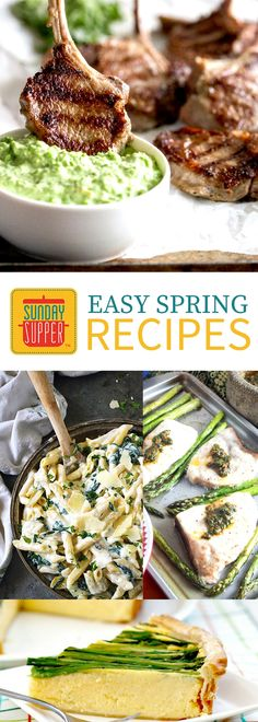 Over 30 Easy Spring Recipes filled with beautiful fresh produce by the talented #SundaySupper tastemakers. Get all of our Sunday Supper recipes FREE! Enjoy fresh spring recipes all day with breakfast, lunch, and dinner recipes.
