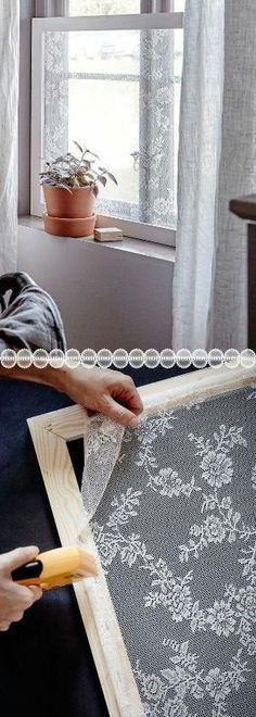 Crafty DIY Window screens made from lace by olive