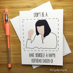 Pulp Fiction Mia Wallace Birthday Card Pulp by YeaOhGreetings