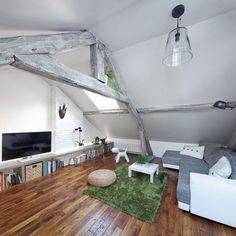 Sótão se transforma em apartamento de dois quartos - limaonagua