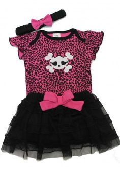 Skull-Baby-Clothes-Punk-Baby-Clothes-Outfit-Cute-Girls-Baby-Skull-Baby-Vest-Skirt