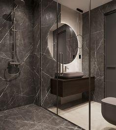 Two bathroom design ideas Washroom Design, Modern Bathroom Design, Bathroom Interior Design, Bathroom Toilets, Tile Bathrooms, Washbasin Design, Counter Design, Modern Bathroom Decor, Wet Rooms