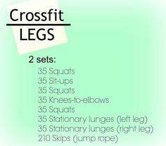 Crossfit Legs Workout!!