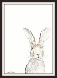 Watercolour Hare Print- Watercolour painting- Art Print- Nursery Art- Animal Art- Hare- Print- Woodland- Nature- Art by Lewis Hanson
