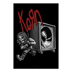 Rock out with this Korn Speaker Fabric Poster! This product is a textile poster…