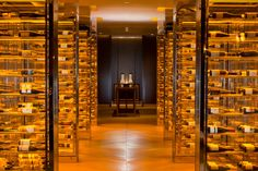 Waldorf Astoria Beijing wine cellar is not only functional, but beautifully designed too.