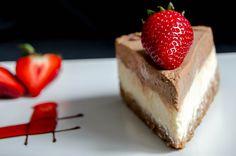 {Chocolate Mousse Cheesecake} Magnificent, elegant dessert.  Yummy!