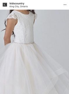 King City, Hit The Floors, Communion Dresses, Cap Sleeves, Flower Girl Dresses, Country, Wedding Dresses, Lace, Kids
