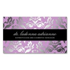 311-Ladonna Damask Lilac Business Card