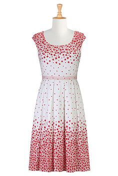 eShakti Hearts and flowers A-line dress, definitely my style, with some red heels, perfect!