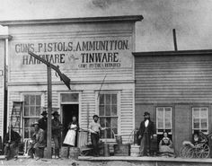 Dodge city, 1872. Hardware store sold weapons.