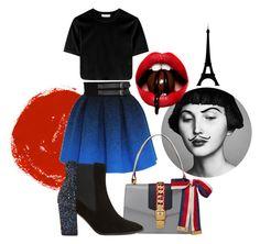 """""""Rouge de Paris❤️"""" by cami-lanfranconi-cl on Polyvore featuring moda, JC de Castelbajac, Gucci e Dune"""