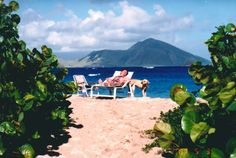 The South East Peninsula of St. Kitts as seen from the Yamseed Inn, #Nevis (behind the Newcastle airport) Circa 1987....what a difference. Look how pristine it was then.