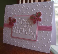 My Stamping Addiction: A Sizzix Embossing Folders Birthday More